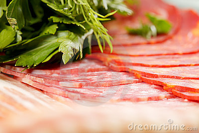 Meat products and greens