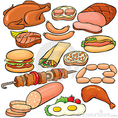 Free Meat Products Icon Set Royalty Free Stock Image - 14122406
