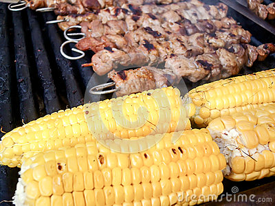 Royalty Free Stock Images: Meat skewers