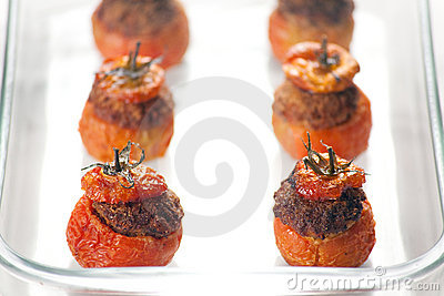 Meat Stuffed Tomatoes