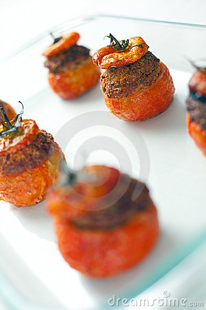 Meat Stuffed Tomatoes