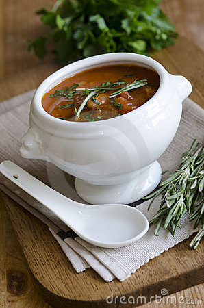 Free Meatball And Tomato Soup Royalty Free Stock Photos - 23913078