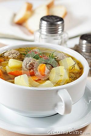 Free Meatball Soup Stock Photo - 17941160