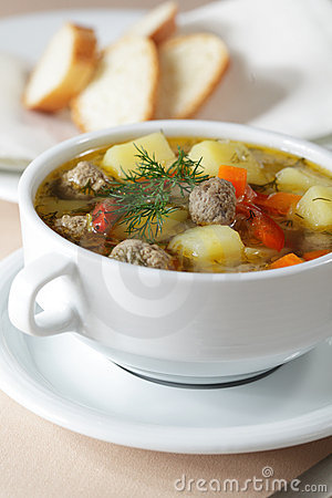 Free Meatball Soup Stock Images - 18095644