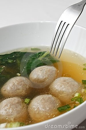 Free Meatball Soup Stock Photography - 20080542
