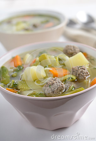 Free Meatball Soup Stock Photography - 27027682