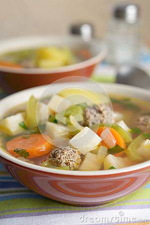 Free Meatball Soup Royalty Free Stock Photography - 27926217