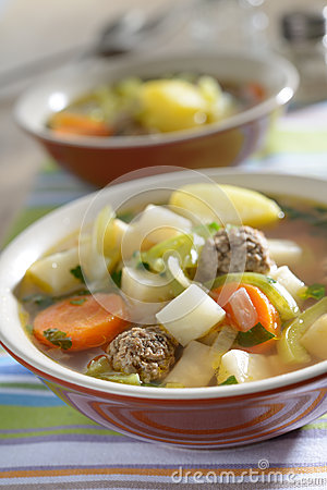 Free Meatball Soup Royalty Free Stock Photo - 28278895
