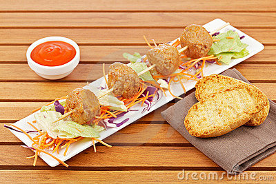 Meatballs Skewer Royalty Free Stock Photography - Image: 14187017