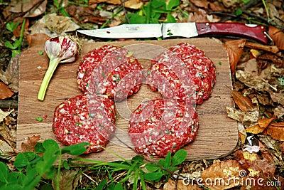 Meatballs in the woods