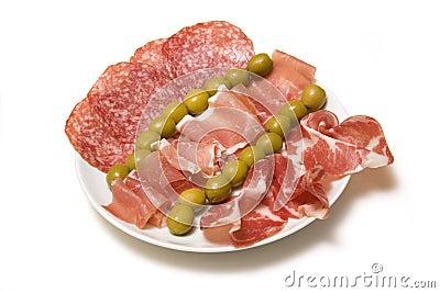 Meaty Tapas plate