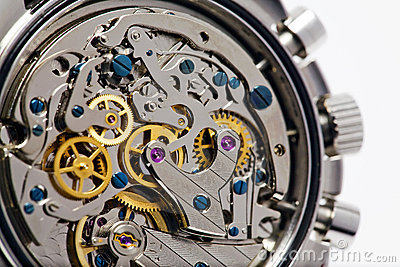 Mecanismo de relojería moderno