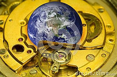Mecanismo del reloj de la tierra.
