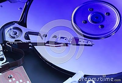 Mecanismo impulsor de disco duro abierto