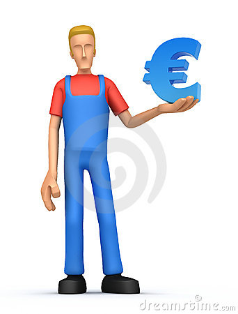 Mechanic with euro
