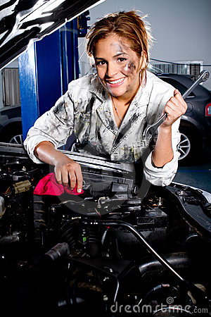 Mechanic in a garage