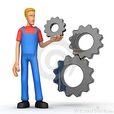 Mechanic with gears