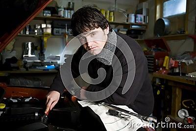 Mechanic in his workshop