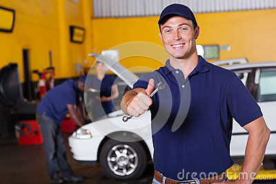 Mechanic thumb up