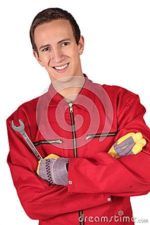 Free Mechanic Trainee Stock Image - 10975311