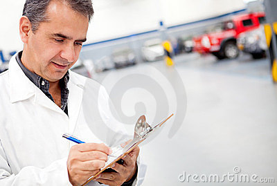 Mechanic working at a garage