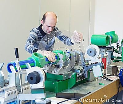 Mechanic at workroom