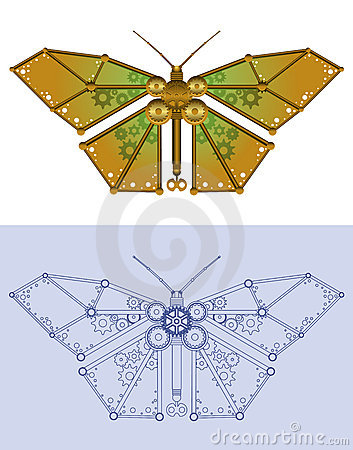 Free Mechanical Butterfly Stock Photography - 17498782