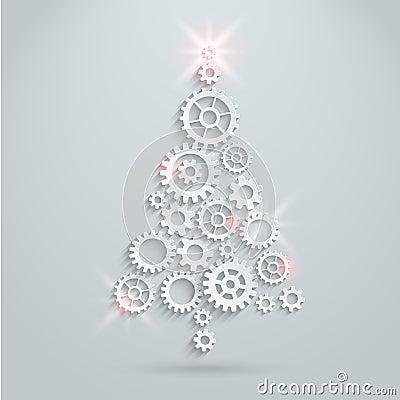 Free Mechanical Christmas Tree Royalty Free Stock Photography - 34419287