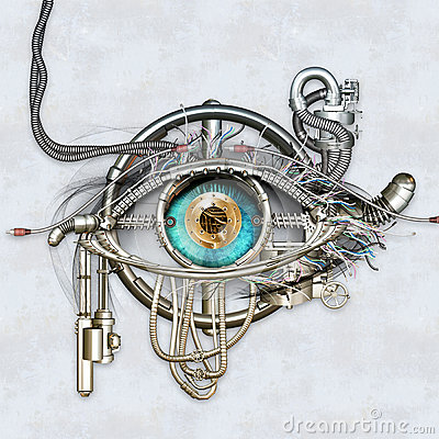 Free Mechanical Eye Royalty Free Stock Images - 43995449