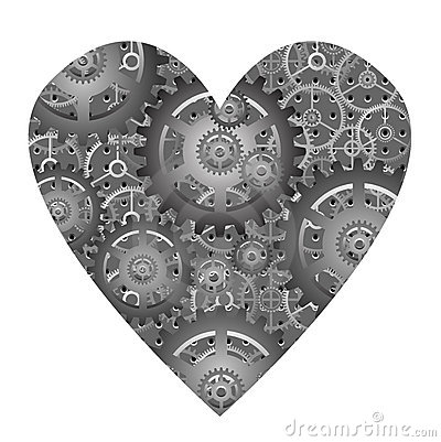 Mechanical heart - vector