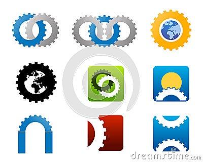 Mechanical manufacturing logo