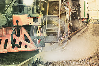 Mechanical part of steam locomotive.