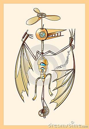 Mechanical pterodactyl