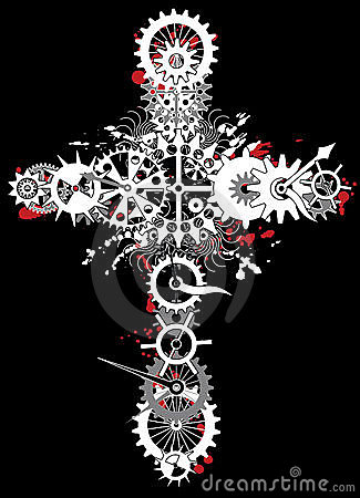Mechanical religion cross