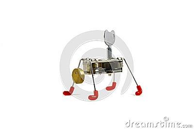 Mechanical robot Stock Photo