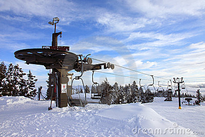 Mechanical ski lift, mt. Hood Oregon.