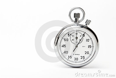 Mechanical stopwatch Stock Photo