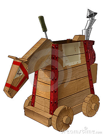 Free Mechanical Wood Horse Royalty Free Stock Image - 336006