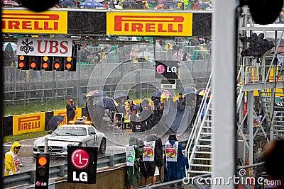 Mechanics at Montreal Grand prix Editorial Image