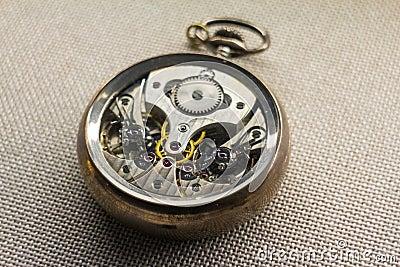 Mechanism of a pocket watch
