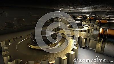 Mechanism Of Vault Door Stock Video Video Of Protect