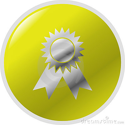 medal award vector button