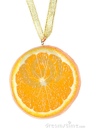 Free Medal From A Juicy Orange. Stock Image - 5115241
