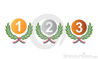 Medal prizes for winners vector