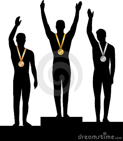 Medal Winners Men/ai Stock Photos - Image: 4525793