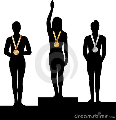 Free Medal Winners Women/ai Stock Image - 4525901