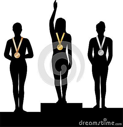 Free Medal Winners Women/ai Stock Image - 4525901
