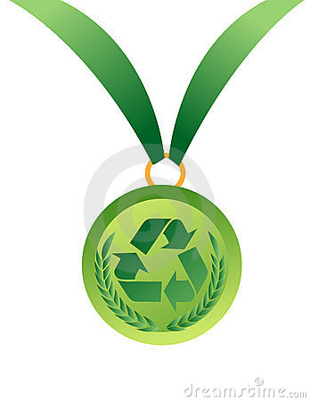 Free Medal With Recycle Sign Royalty Free Stock Images - 8823479