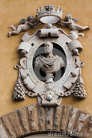 Medalion on Museum s Building Santa Maria dei Fiore, Florence