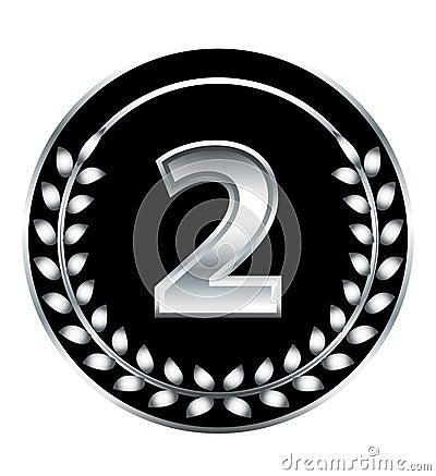Medalla de número dos